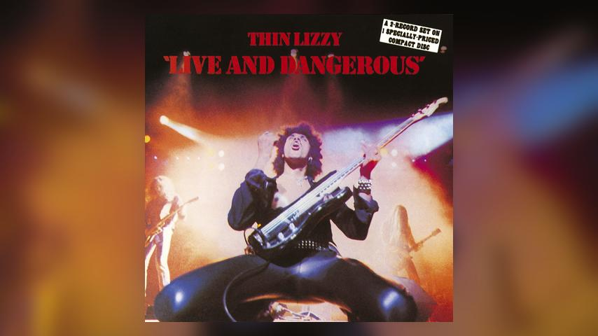 Thin Lizzy LIVE AND DANGEROUS Album Cover