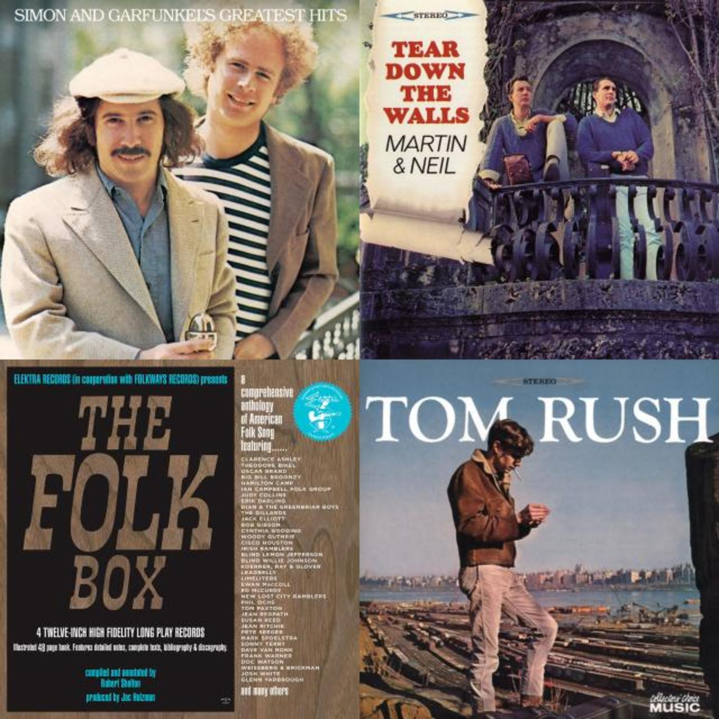 Echoes of The Folk Box: 50 Years, 50 Recordings, 50 Acts - Jac Holzman, Ted Olson, Vince Martin & Fred Neil, Tom Rush, Simon & Garfunkel, Grateful Dead, The Byrds, Fotheringay